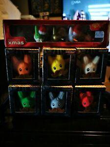 Kidrobot smorking labbit Christmas set plus 6 mini plush