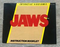 Jaws Nintendo Entertainment System NES Instruction Manual Only