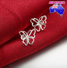 Wholesale Elegant 925 Sterling Silver Filled Lovely Butterfly Stud Earrings