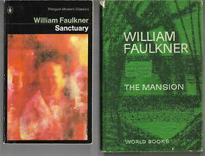 3 bks The Mansion Sanctuary & The Wild Palms by William Faulkner vgc
