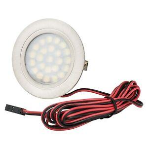 LED Möbeleinbauleuchte 2W 12V Strahler Spot flach Einbaustrahler Lampe Licht