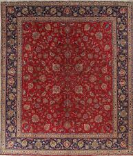 Antique All-Over Floral Traditional Oriental Hand-Knotted 11x13 Wool Rug