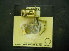 New Stanley CD26 Cabinet Door Adjustable Roller Catch Latch, Bright Brass, CD26C