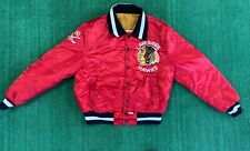 Vintage NHL Lakeshore Hawks Puffer Jacket Size M Red Made In Canada