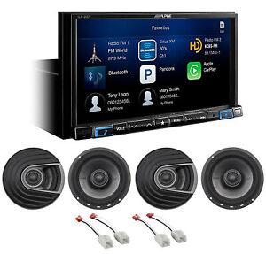ALPINE i207-WRA Carplay Receiver+Polk Audio Speakers For 2007-2018 Jeep Wrangler