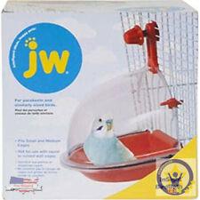 Bird Water Bath Tub For Pet Birds Cage Hanging Accessory Bowl Parakeet Birdbath