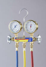 "Yellow Jacket 41233 Deluxe Manifold w/Class 1 Brass Gauges, 36"", & Hose"