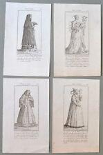 LOMBARDIA. 1700. 4 tavole all'acquaforte, con costumi femminili di Milano..