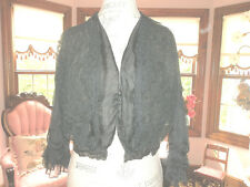 Antique Silk/Lace Black Jacket Small Victorian Late 1800's