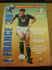 29/10/1997 Republic Of Ireland v Belgium [World Cup Play-Off] [At Lansdowne Road