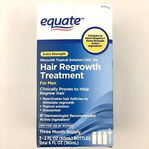 Equate Minoxidil Topical Solution USP 5% Hair Regrowth Treatment For Men 3 Pack