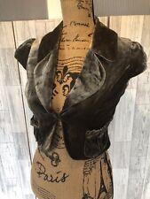 River Island Bronze Velvel Feel Silk Blend Cropped Shrug With Pockets Size8