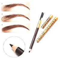Waterproof Eyes Brow Black Brown Eyebrow Pens Pencils With Brush Makeup Cosmetic