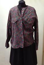 Stylish Paisley Women's Plus Long Sleeved Cotton Shirt M