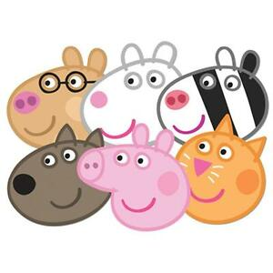 Peppa Pig Variety 6 pack Officially Licensed Card Party Face Masks - Great Fun
