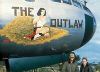 USAAF B29 Bomber Nose Art The Outlaw  1011 WW2 WWII #1024  Jane Russell 4x6