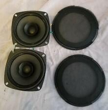 4 inch 8 ohm speakers, set of 2