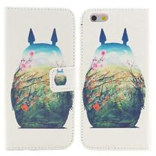 """Cute Totoro Leather Stand Wallet Case Cover For Apple iPhone 6 6S Plus (5.5"""")"""