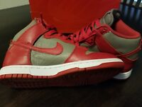 2fccfa1145462f Nike Dunk High Retro QS UNLV OSU Buckeyes Ohio State Grey University Red 7.5
