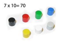 70 x Kappe / Knopf für Mikrotaster Hubtaster 6x6x5/6 Druckschalter Kurzhubtaster