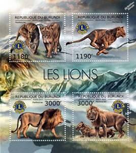 LIONS Club International African Wild Animals Stamp Sheet #1 of 7 (2012 Burundi)