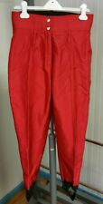 Schoeller Skiwear by HEAD Metallic Red Stirrup Snow Ski Pants Womens 12 USA Made