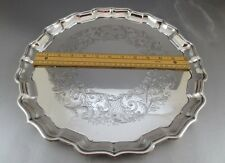 "14"" BIRKS STERLING SILVER SALVER OR TRAY! OVER 32 TROY, CHASED DECORATION!!"