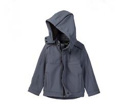 Urban Republic Soft Shell Mixed Media Jacket Sz 5/6 Boys Gray Pewter Winter Coat