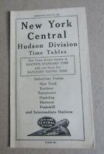Old Vintage 1948 - NEW YORK CENTRAL RAILROAD - Time Tables - HUDSON DIVISION