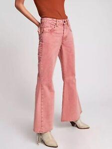 Free People One Teaspoon Womens Vintage Red Marines Jeans Flares Is W31 Uk 12