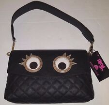 Betsey Johnson XOX Trolls Convertible Clutch Crossbody Googly Eyes Purse Bag NWT
