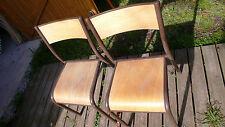 Meuble Métier Scolaire 2 Chaise Industrielle MULLCA Enfant Ecole Métal Bois 1980
