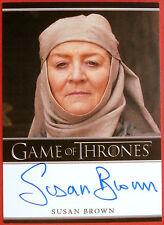 GAME OF THRONES - SUSAN BROWN, Septa Mordane, AUTOGRAPH Card - Rittenhouse 2012