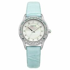 Oasis Women's Quartz Watch with Mint Green Dial Analogue Display and Green Strap