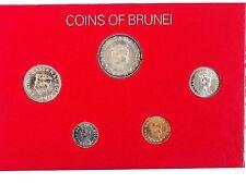 BRUNEI 1977 UNCIRCULATED COINS SET .
