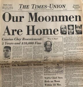 Cassius Clay Sentenced Muhammad Ali Original 1969 Newspaper Cover Vietnam War