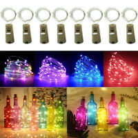 15 20 LEDs Wine Bottle Cork Fairy Lights Warm Cool White Multi-Color Xmas Party