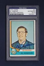 Al Arbour signed New York Islanders 1974 Topps hockey card Psa/Dna