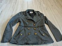 Kensie Pea Coat Womens Coat Jacket Lightweight Spring Size Large