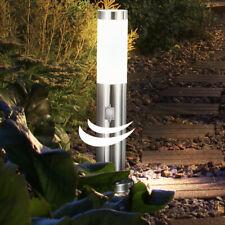 LED Außen Steh Leuchte Grundstück Garten Strahler Sensor Stand Edelstahl Lampe