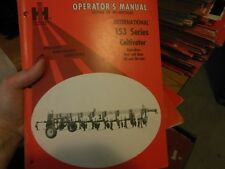 International Harvester 153 Series Cultivators (28 To 30-Inch) Operator's Manual