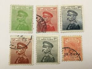 old stamps  SERBIA     x  6