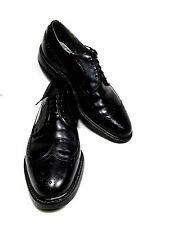Lloyd & Haig, Wingtip,5-eyelet, Leather, Color:Black, Size:11 A/C, Vintage