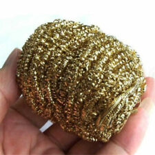 5pcs Soldering Solder Iron Tip Cleaner Brass Cleaning Wire Sponge Ball Gold