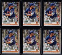 2019 Topps Complete Set Pete Alonso 6 Card RC Lot #475 Retail Image Variation