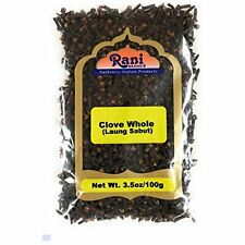 Rani Cloves Whole Laung 3.5oz 100g Great for Food Tea Pomander Balls and Hand
