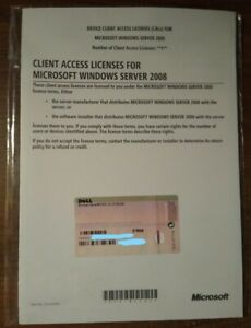 5-User CAL - Microsoft Client Access Licenses for Windows Server 2008