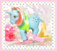 ❤️My Little Pony G1 Vtg 1984 Rainbow STARFLOWER Unicorn & Original Brush, Comb❤️