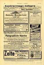 P.Wächter Friedenau Photographische Objective Mineralien-Contor Dr.F.Krantz 1891