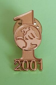 NEW Gold Holden Lion Logo Number 1 in 2001 Badge Pin Collectible Memorabilia